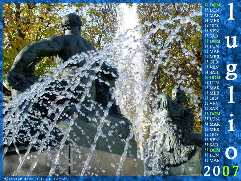 Calendario Luglio 2007.Torino Per Un Anno Calendario 2007