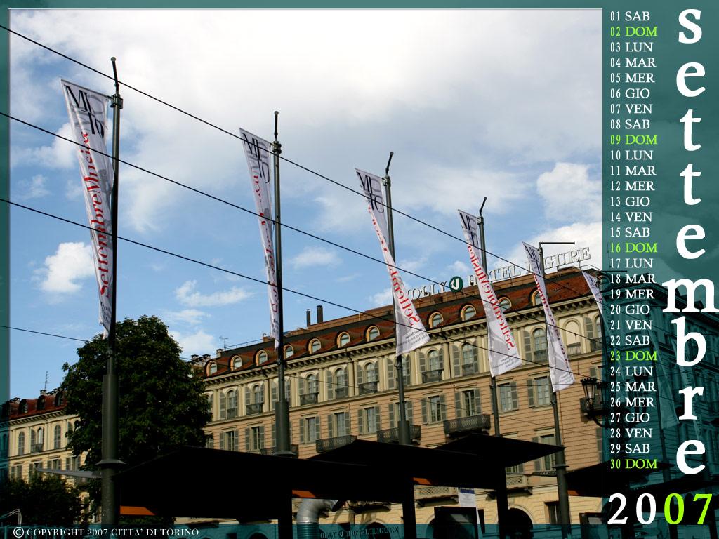 Calendario Settembre 2007.Torino Per Un Anno Calendario 2007