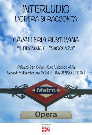 locandina Interludio cavalleria rusticana