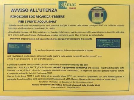 Avviso utenza SMAT modalità pagamento