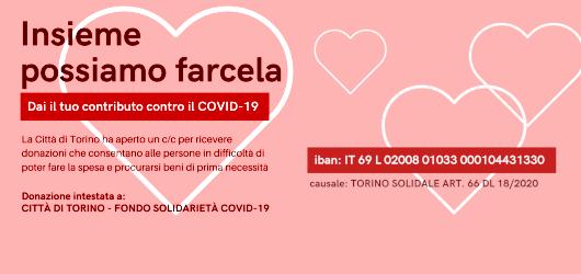 Solidarietà alimentare - La Città di Torino apre un conto corrente per la raccolta fondi