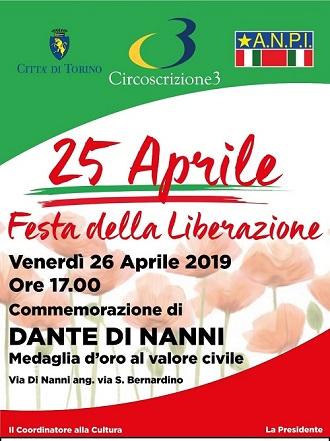Il manifesto della Circoscrizione 3 per il XXV aprile - Festa della Liberazione