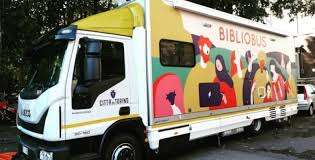 Il Bibliobus in Piazzale Rostagno - Giardini Italo Calvino