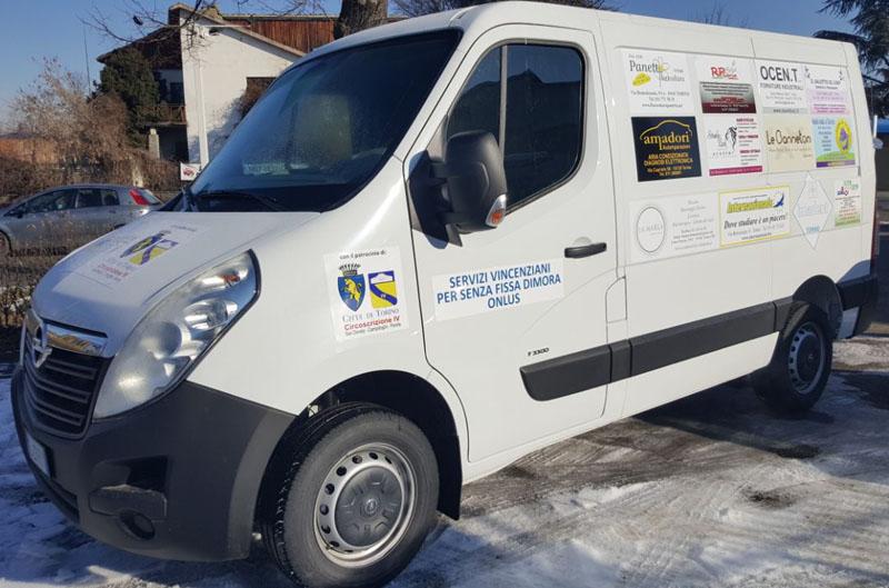 Nuovo furgone per assistenza senza fissa dimora