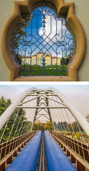 """""""Uno scorcio d'altri tempi"""" e  """"Un ponte verso la natura"""" (foto Stefania Morelli; calendario 2016 Circoscrizione IV)"""