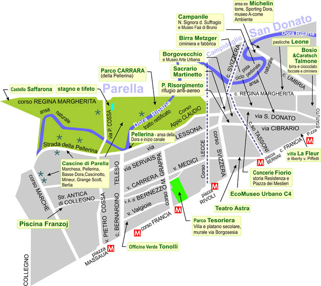Mappa I Luoghi della Quattro