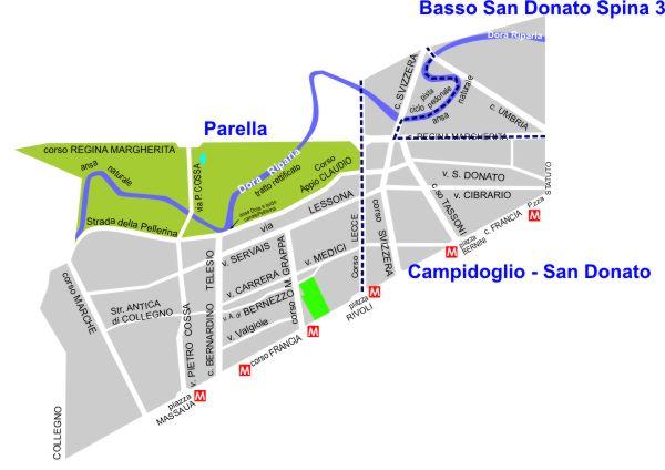Mappa Commissioni di Quartiere