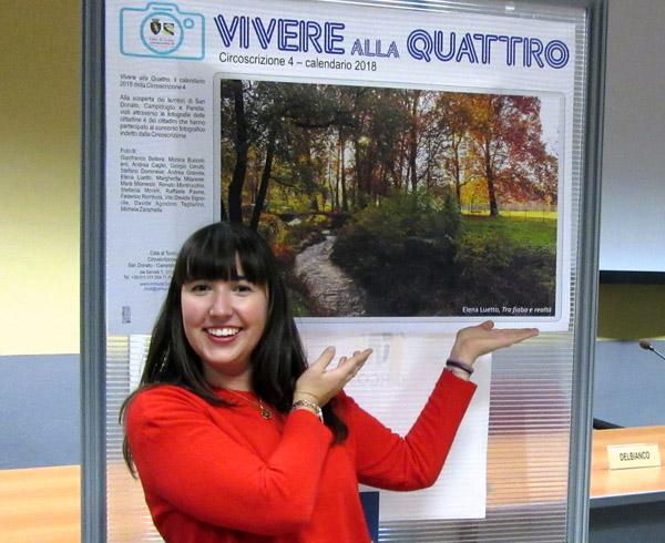"""Monica Luetto. autrice della foto """"Tra fiaba e realtà"""", vincitrice del concorso per il calendario 2018"""