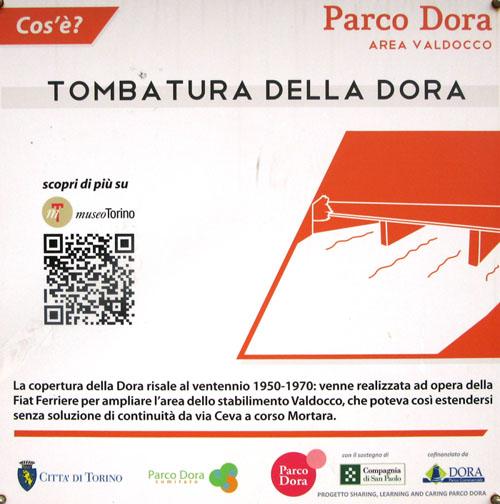 Pannello presente sul sito, a cura di Parco Dora (archivio Circ4 2017)