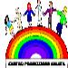 persone per mano e arcobaleno