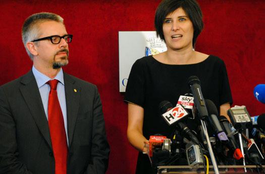 La conferenza stampa della neo Sindaca di Torino, Chiara Appendino