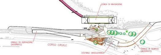 progetto centrale idroelettrica e navigazione sul Po
