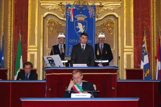 La cerimonia del 19 novembre 2012