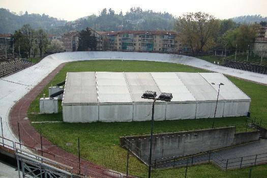 L'interno del motovelodromo