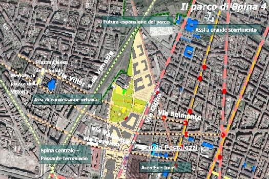 La cartina dell'area
