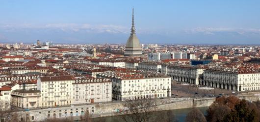 Panorama di Torino con Mole Antonelliana