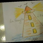 disegno di un faro che rappresenta la luce della famiglia