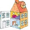immagine di una casa dentro e fuori