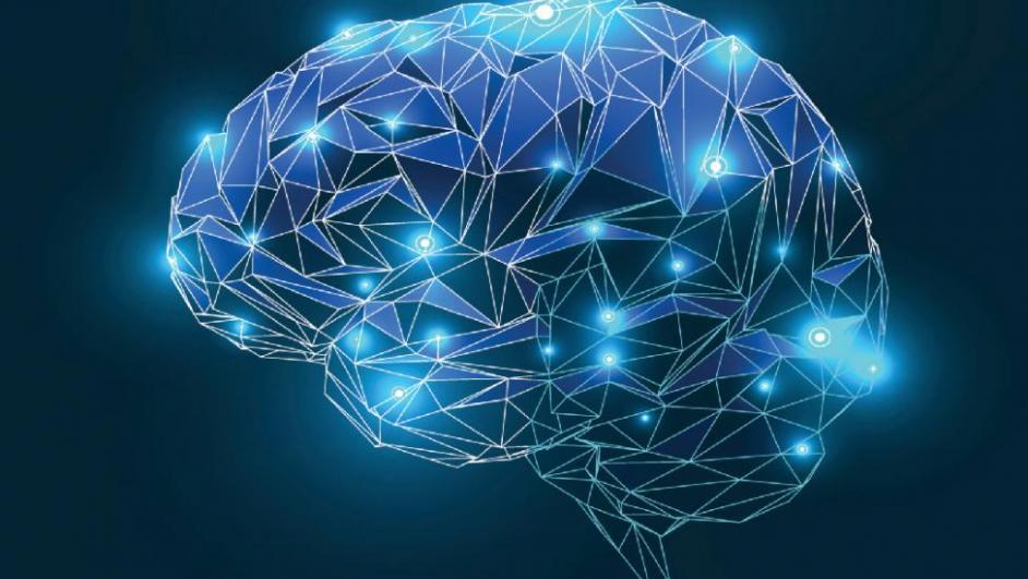 linee luminose a forma di cervello