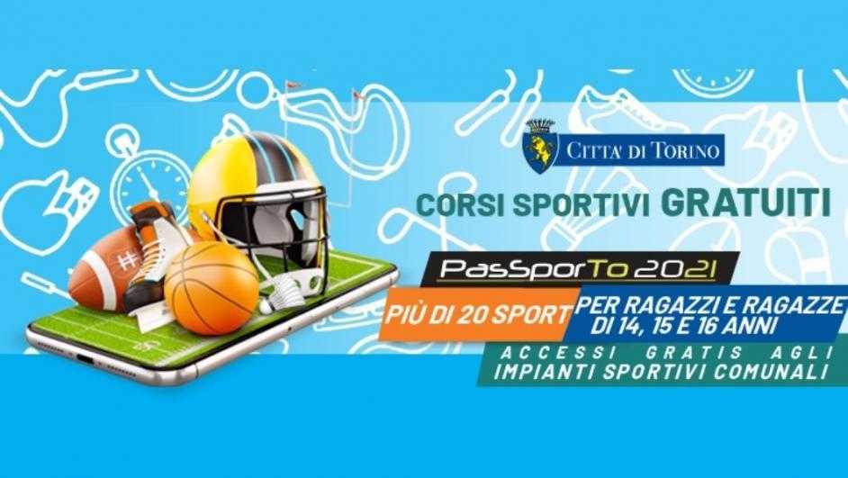 PasSporTo 2021, sport gratis per 14, 15 e 16enni