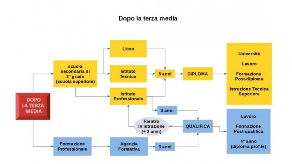 Schema del sistema scolastico