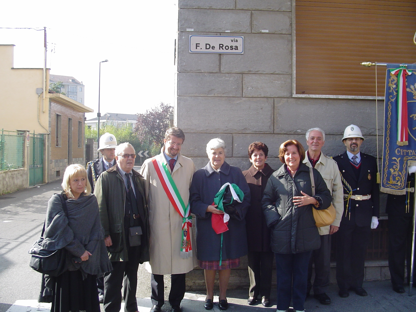 L'inaugurazione di via Fernado De Rosa