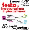 Locandina Festa d'inaugurazione del Mercato Foroni