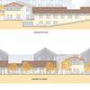 Realizzazione nuova scuola d'infanzia | Nido ex-Incet | Prospetti nord/sud | Progetto